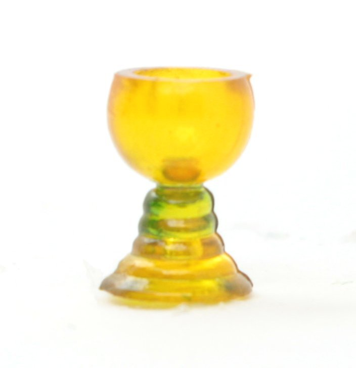 Vintage German Yellow Mini Wine Goblets  - 12 pcs - IV3-2487